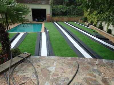 Gespa artificial instal lar gespes sint tica jardiners - Gespa artificial girona ...